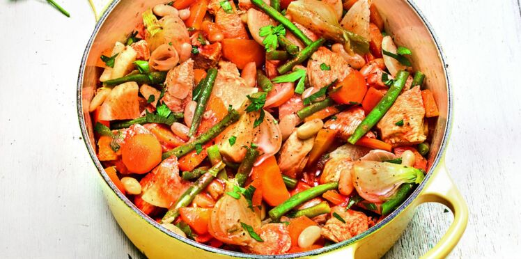 Recette Weight Watchers  le navarin de poulet (0 Smartpoint)