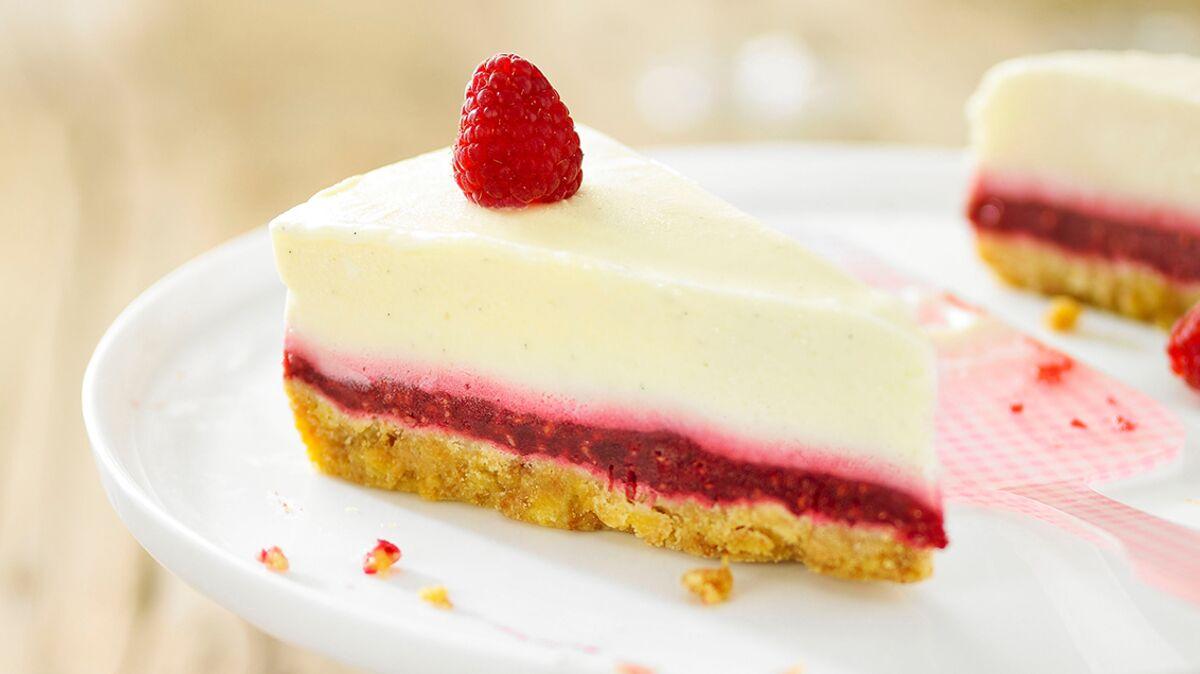 Dessert craquant vanille - framboise