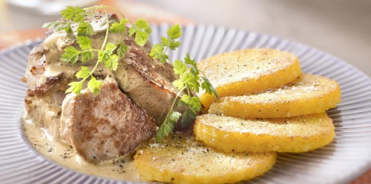 Filet de veau crémeux aux graines de moutarde