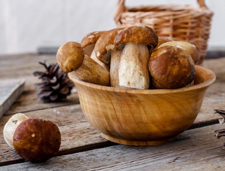 Fricassée de cèpes en croûte de pain