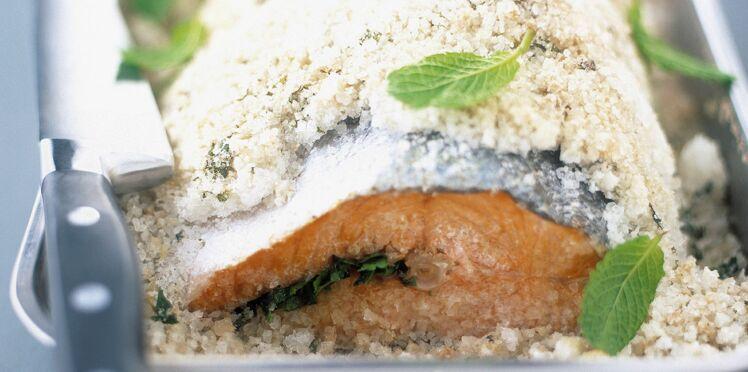 """Résultat de recherche d'images pour """"saumon en croute de sel"""""""