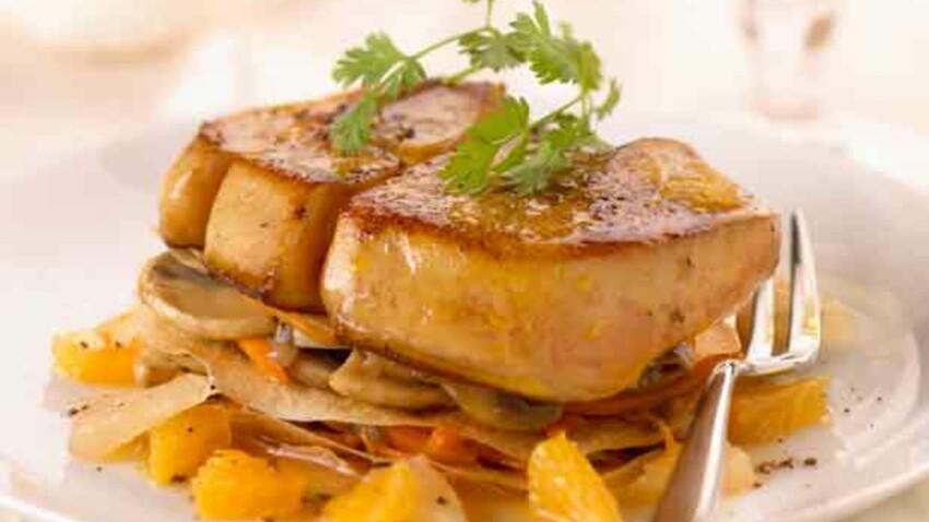 Foie gras de canard entier des Landes poêlé aux agrumes
