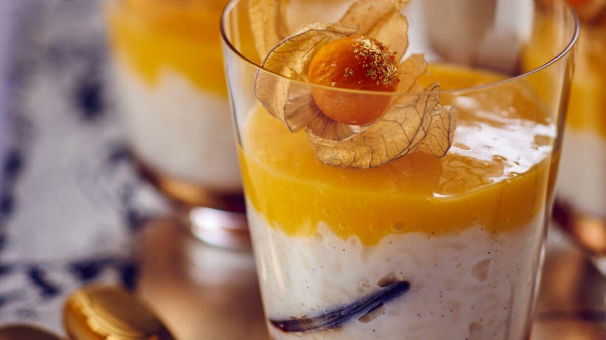 Riz au lait exotique à la mangue