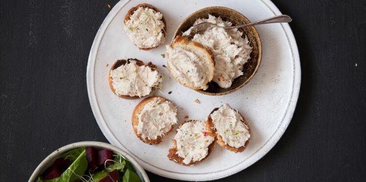 Rillettes de thon et leur salade de graines germées
