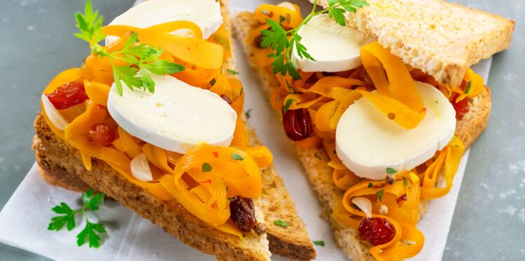Sandwich oriental à la carotte et au fromage En Cas de Caprice
