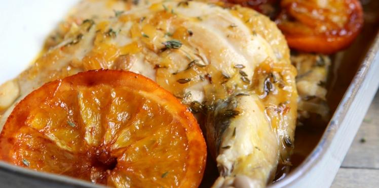 Suprêmes de pintade à l'orange et au miel