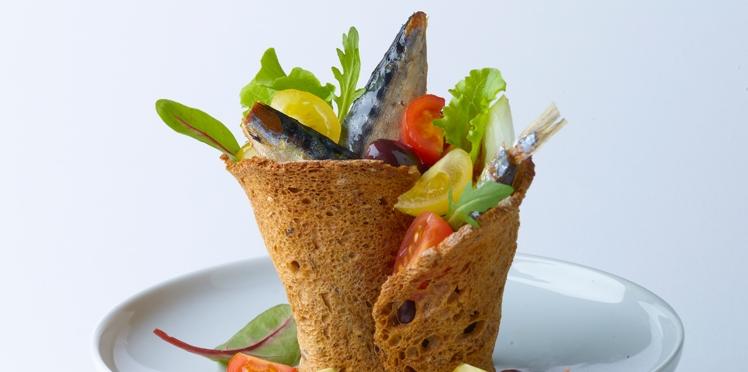 Salade en roulade croustillante