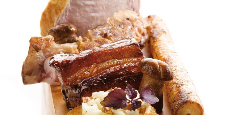 Cochon en trois cuissons et fricassée de cèpes (Norbert Tarayre, Top Chef)
