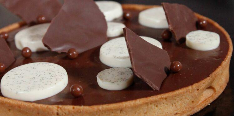 La recette de la tarte au chocolat, vanille et fleur de sel de Benjamin