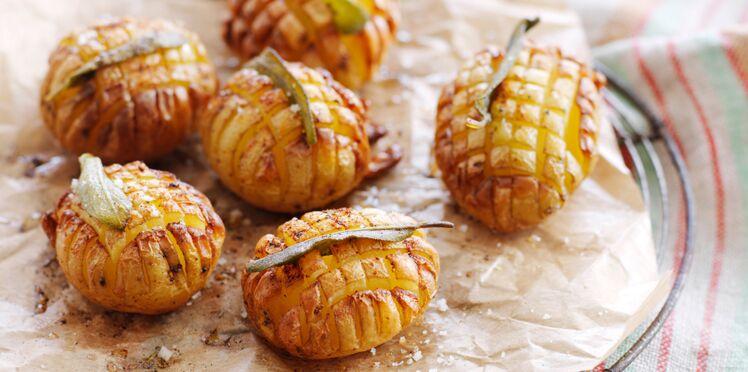 Hérissons de pomme de terre croustillants à la sauge