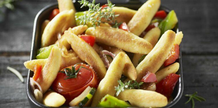 Cassolette de mini quenelles aux légumes