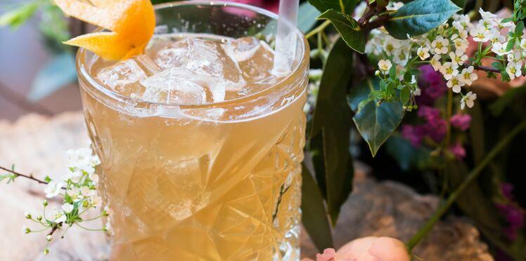 Cocktail thé pamplemousse et Cognac