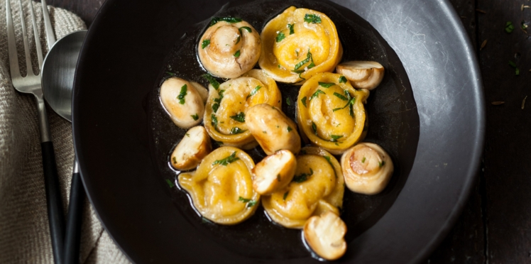 Tortellinis de maroilles aux champignons