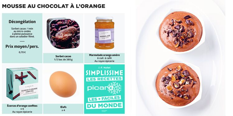 Mousse au chocolat à l'orange Simplissime & Picard