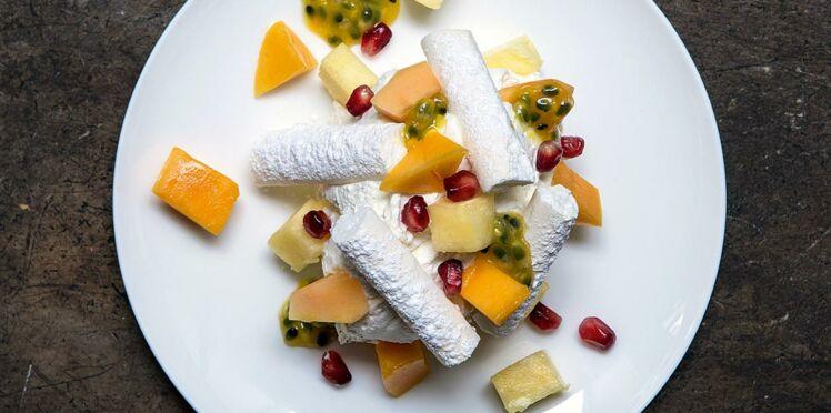 Pavlova aux fruits exotiques de Bruno Doucet