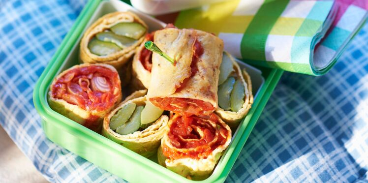 Roulés d'omelette aux légumes du soleil