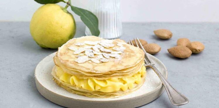 Feuilleté de crêpes au Lemon Curd