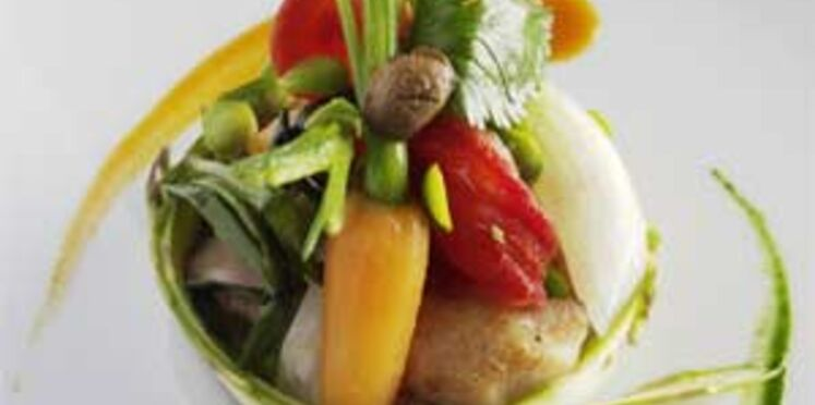 Navarin de lapin aux petits légumes printaniers