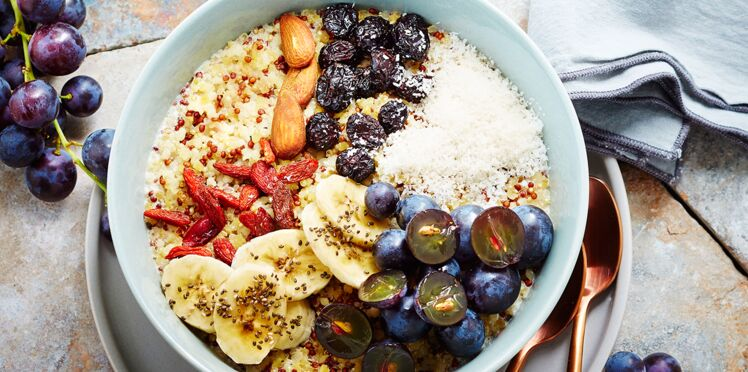 Powerbowl aux raisins Aop, godji et graines