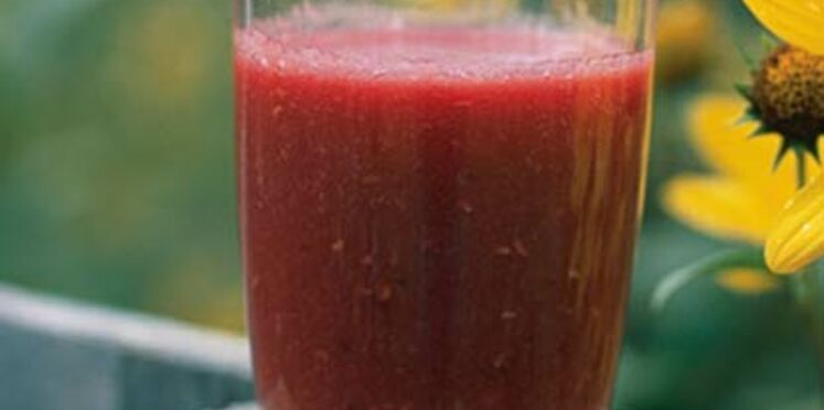 Smoothie melon fruits rouges