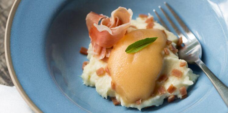Jambon Consorcio Serrano, purée de panais et pomme songe de nuit