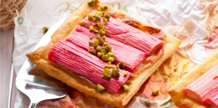 Tartelettes de rhubarbe aux pistaches