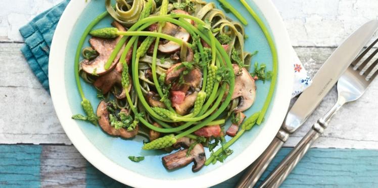 Salade de tagliatelles aux asperges vertes