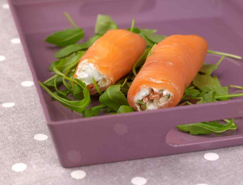 Le roulé de truite et julienne de légumes