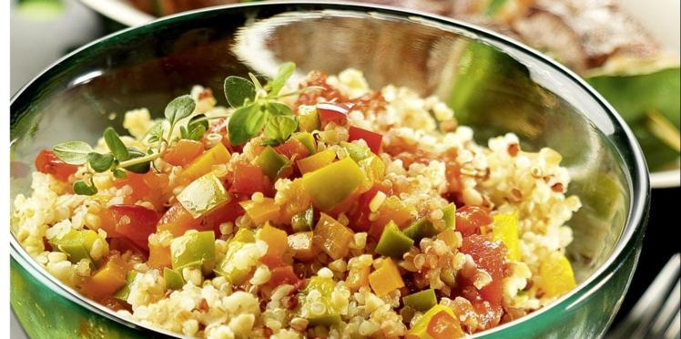 Quinoa gourmand sauce basquaise