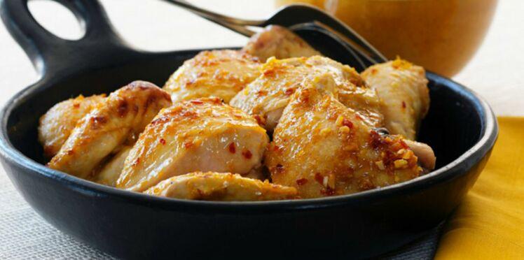 Sauté de poulet au cidre parfumé au thym et sa purée aux 2 pommes