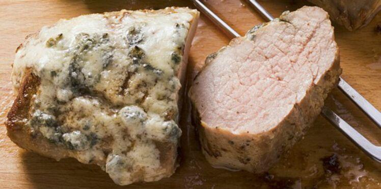Roti de porc au roquefort