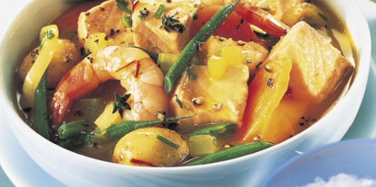 marmite de la mer aux légumes
