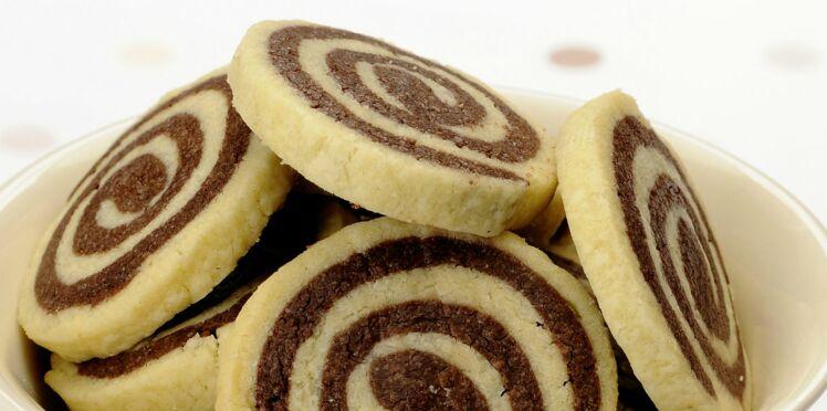 Biscuits escargots vanille-chocolat