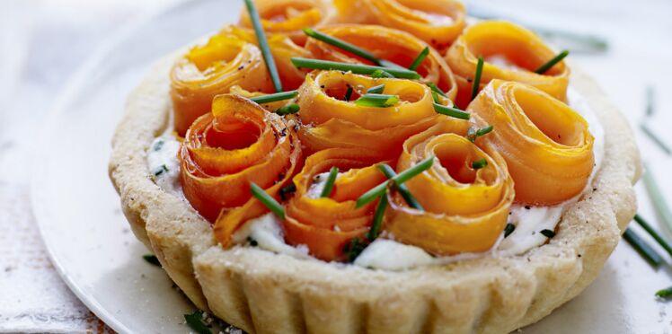 Tartelettes serpentin à la carotte et au citron confit