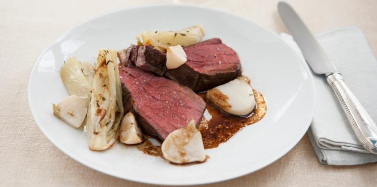 Filet de bœuf basse température et petits légumes de saison de Flora Mikula