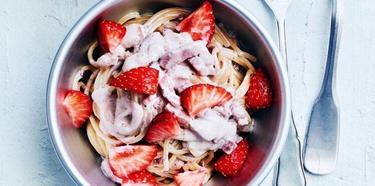 Carbonara aux fraises