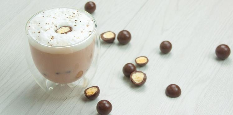 Thé glacé au lait et caramel Toffee