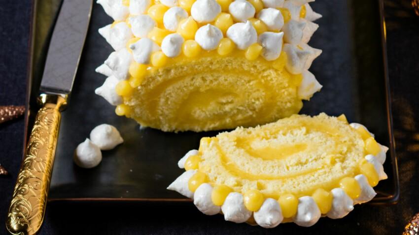 Tarte au citron basilic comme une bûche