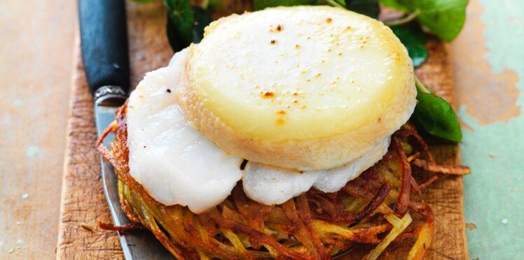 Galettes de pommes de terre, charolais AOP et cabillaud