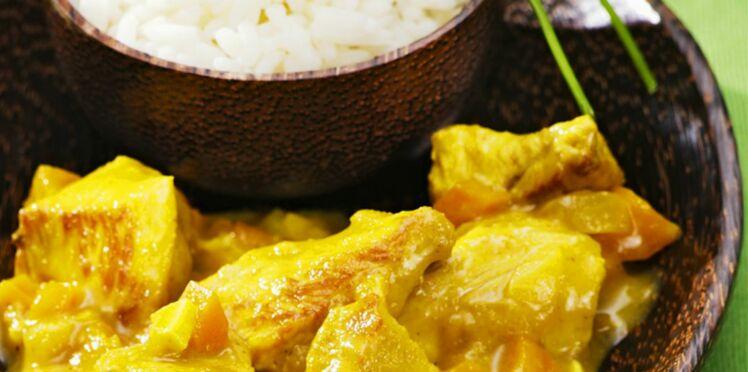 Recette du sauté de dinde au curry