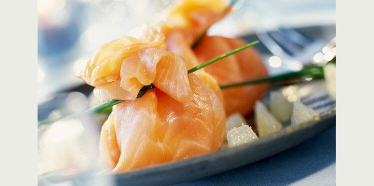 Aumonières de saumon fumé