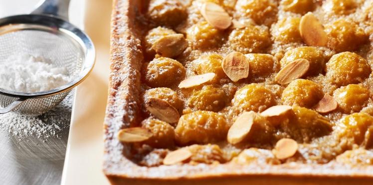 Tarte aux prunes frangipane à la crème d'amandes