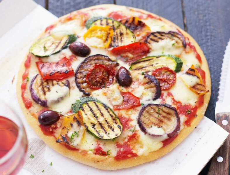 Pizza provençale aux légumes grillés