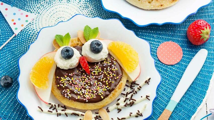 Pancakes en forme d'hibou