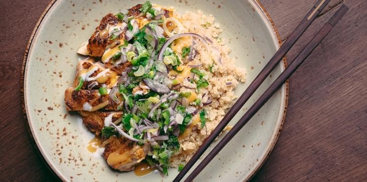 Quinoa poulet (recette Nikkei)