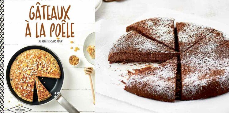 Gâteau fondant chocolat à la poêle