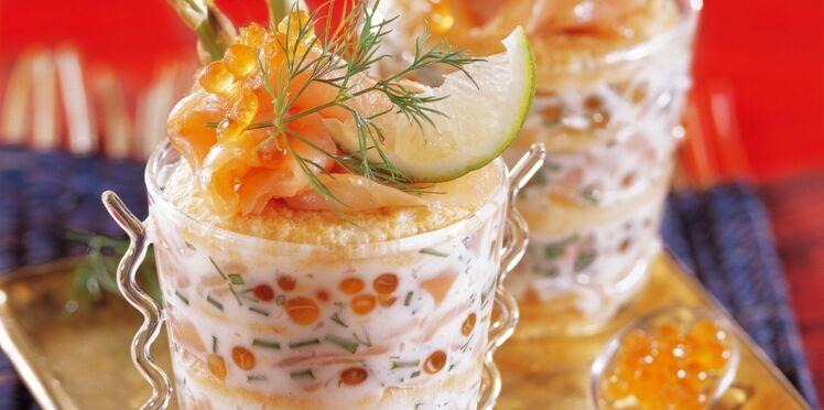 Verrine tout saumon