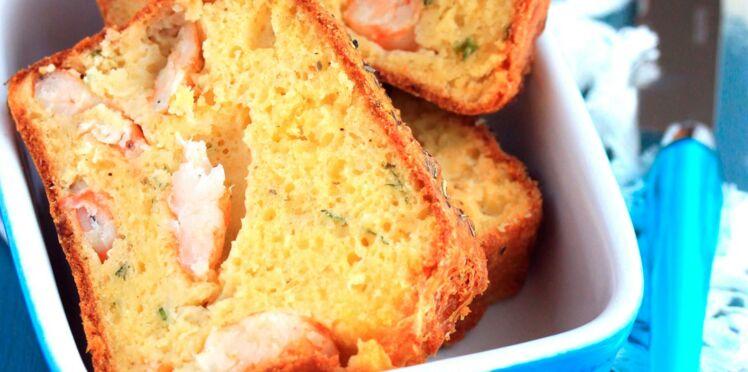 Cake aux crevettes et aneth