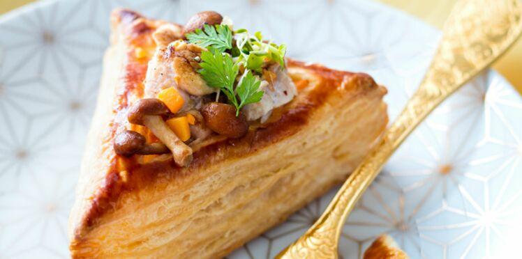 Feuilletés aux ris de veau et champignons des bois