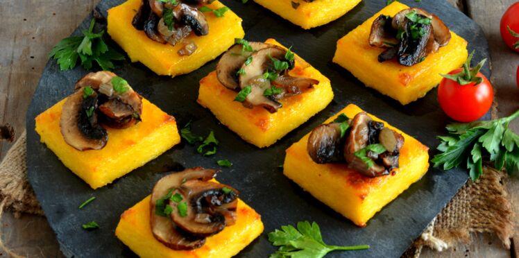 Toasts de polenta
